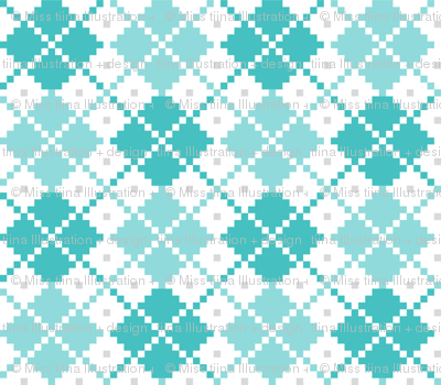 knitted teal no.4 LG argyle