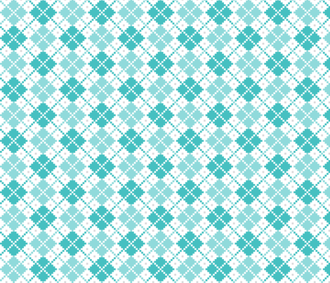 knitted teal no.4 LG argyle fabric by misstiina on Spoonflower - custom fabric