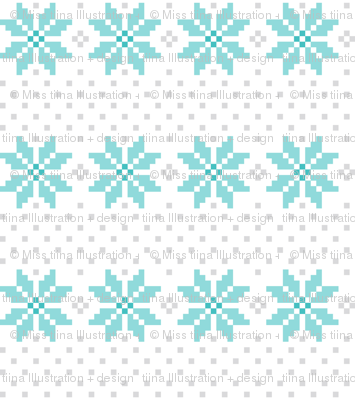 knitted teal no.5 LG poinsettias