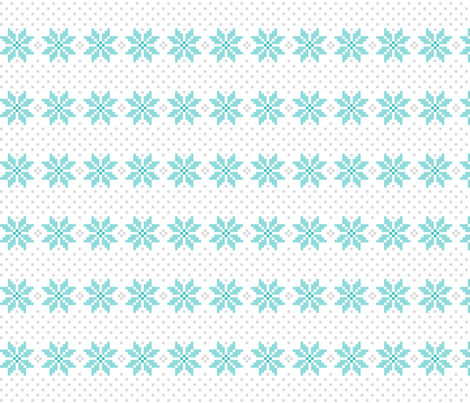 knitted teal no.5 LG poinsettias fabric by misstiina on Spoonflower - custom fabric