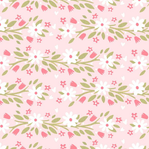 Pretty White Flowers on Pink