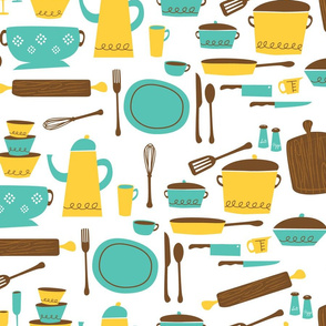 kitchen101 (lemon & turquoise)