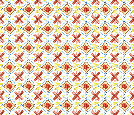 Breakfast Essentials fabric by elizabeth_baddeley on Spoonflower - custom fabric