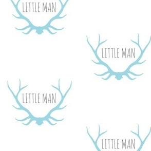 Little Man Antlers - blue/grey/white - Winslow woodland