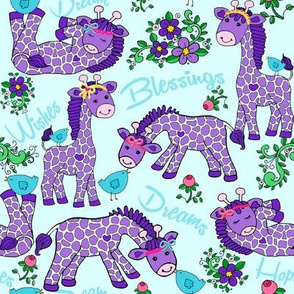 Baby_Giraffes_Birds_Flowers_Purple_Teal_BANDS