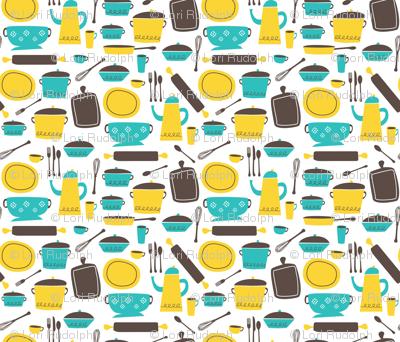 kitchen 100 (lemon & aqua)