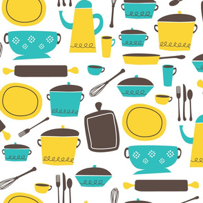 kitchen 100 (lemon & aqua)