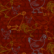 Keepsake Country Chickens by Salzanos