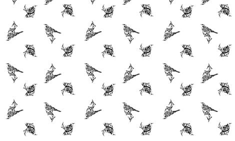 Tuis on White fabric by katrina_ward on Spoonflower - custom fabric
