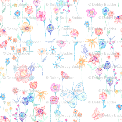 Dotted flower garden