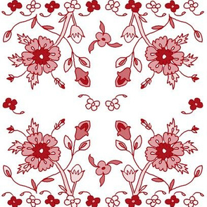 persian floral - red