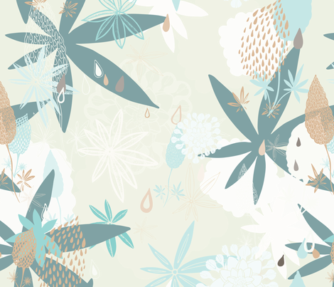 Lovely Lupins fabric by paula_ohreen_designs on Spoonflower - custom fabric