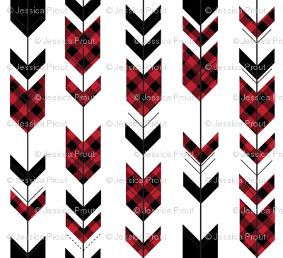 fletching arrows buffalo plaid || the happy camper collection