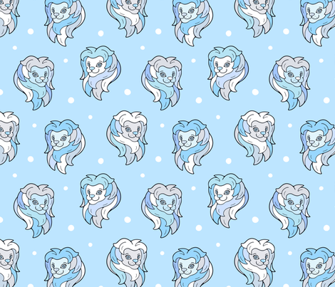 Happy Lion  fabric by nossisel on Spoonflower - custom fabric