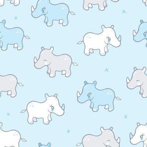 Rhinos in a row
