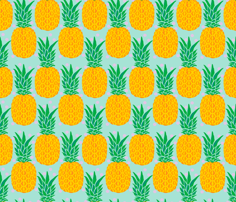 tropical pineapple fabric by claudiamaher on Spoonflower - custom fabric