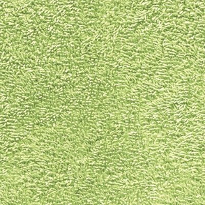 faux terry cloth towel in oolong green