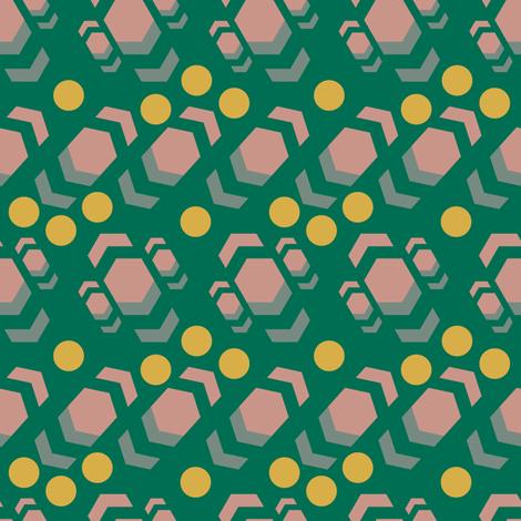 industrial modern green fabric by jdeebella on Spoonflower - custom fabric