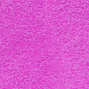 faux terry cloth towel in mad pink