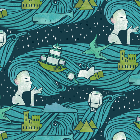 A Wish to Build a Dream On fabric by ceciliamok on Spoonflower - custom fabric