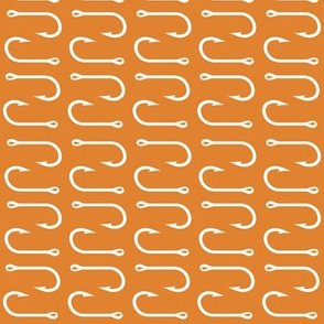 fish hooks (rotated) - orange