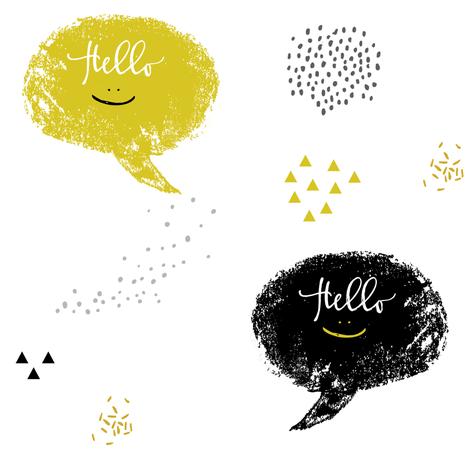 Hello Friends Bubbles fabric by shopcabin on Spoonflower - custom fabric