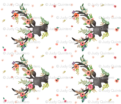 Floral Deer Fat Quarter