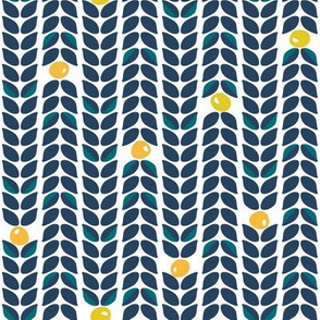 Scandinavian vine in navy
