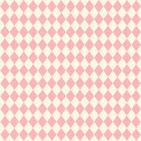 Diamonds in pink and white fabric by thislittlestreet on Spoonflower - custom fabric