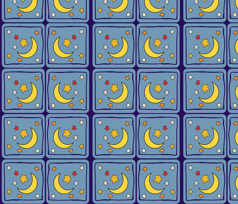 Catch a falling Star  fabric by floramoon on Spoonflower - custom fabric