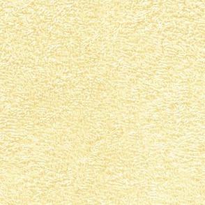 faux terry cloth towel in daffodil yellow