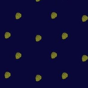 Indigo pinecone