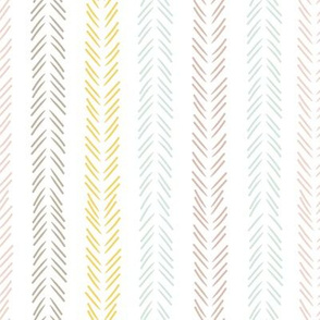 Scandinavian tribal arrows in pastel
