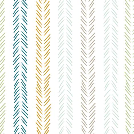 Scandinavian tribal arrows in blue  fabric by thislittlestreet on Spoonflower - custom fabric