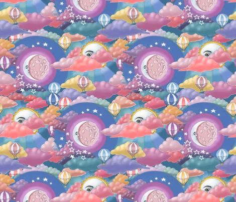 Moon and Sun fabric by elena_naylor on Spoonflower - custom fabric