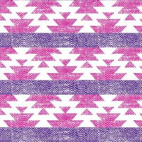 woven aztec || pink purple
