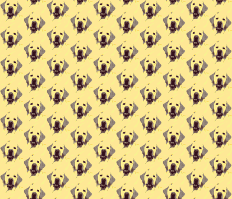 Labrador Retriever yellow fabric by altrincham on Spoonflower - custom fabric