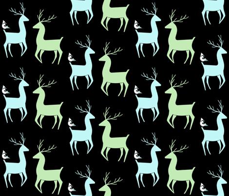Vixen and  Valor Reindeer friends fabric by sewindigo on Spoonflower - custom fabric