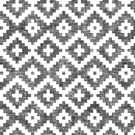 woven aztec || black fabric by littlearrowdesign on Spoonflower - custom fabric