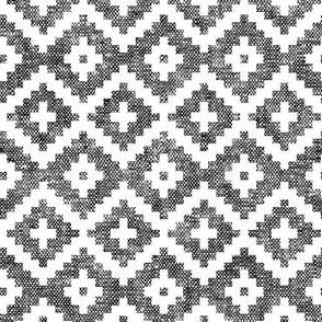woven aztec || black