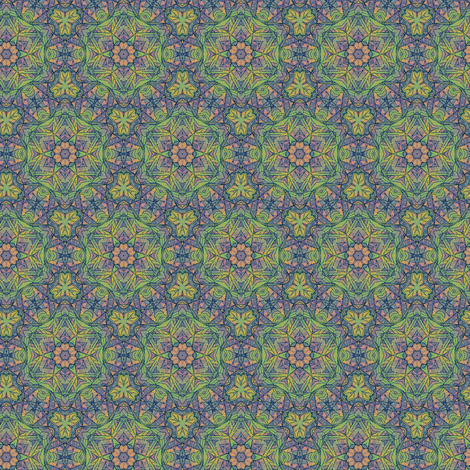 Green and Purple Stained Glass fabric by whimsydesigns on Spoonflower - custom fabric
