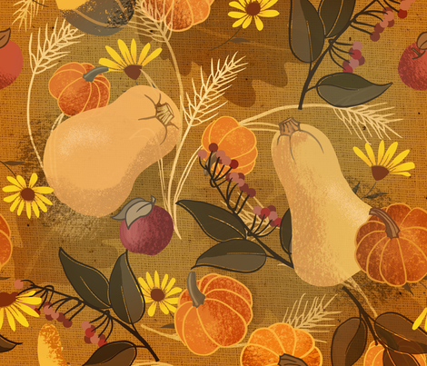 Harvest_Table fabric by _jean_ruth on Spoonflower - custom fabric