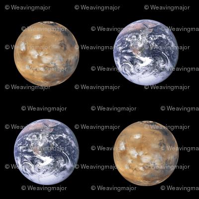 "large (3.5"") Earth and Mars polkadot"