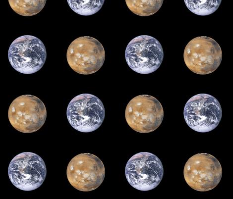 "large (3.5"") Earth and Mars polkadot fabric by weavingmajor on Spoonflower - custom fabric"