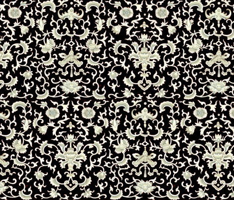 China Scroll Black fabric by amyvail on Spoonflower - custom fabric