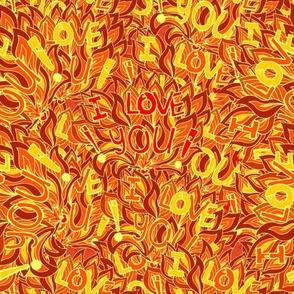 Orange psychedelic love