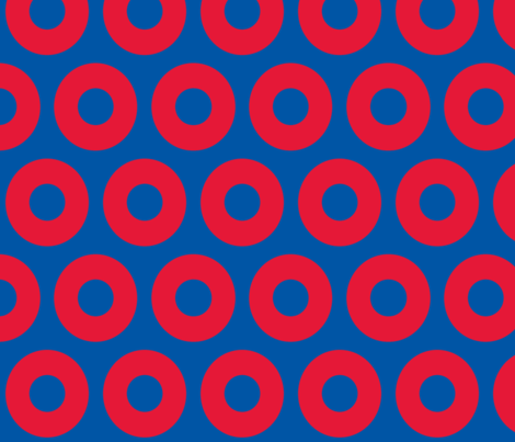 Phish circles- blue red fabric by bbjbsc on Spoonflower - custom fabric