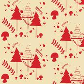 Christmas woodland neutral