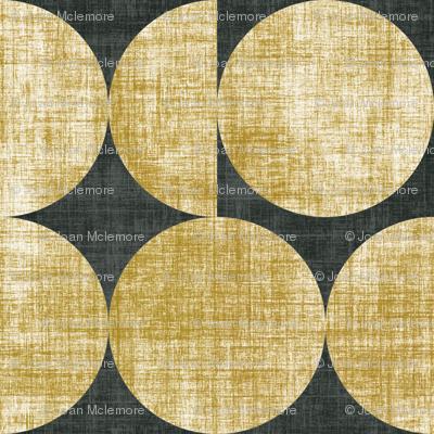 Moon Linen in gold faux linen