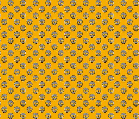 Skulls orange fabric by knusperfelix on Spoonflower - custom fabric